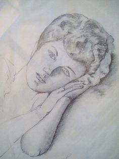 Ritratto di donna (eseguito a matita)