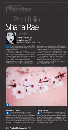 florabellacollection featured in  photoshop magazine