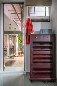 The Flat Interior Which Gives An Ambiance Of Vintage And Modern Outlook | Squares Design Studio - The Architects Diary Flat Interior, Indian Homes, Wardrobe Design, Vivid Colors, House Plans, Rustic, Studio, Squares, Architects