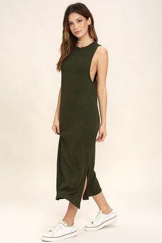 3506a29d2fea Cute Olive Green Dress - Midi Dress - Bodycon Dress -  54.00 Green Midi  Dress