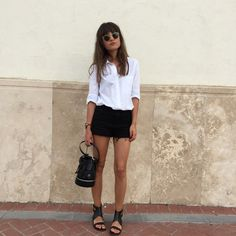 black and white basic summer outfit