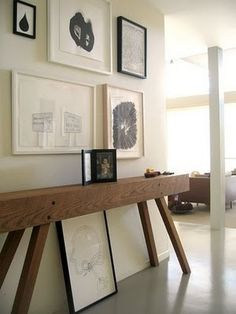 Skinny DIY console table - no plans, but can't be that hard to figure out