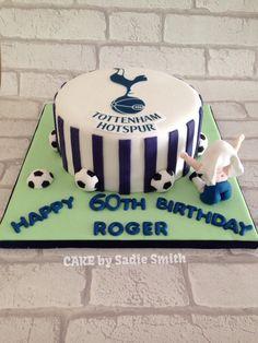 Football Fan Birthday Cake - http://www.cakebysadiesmith.co.uk/celebration-cakes/football-fan-birthday-cake/