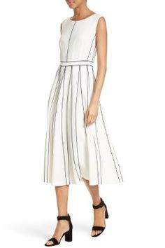 Alternate Image 6 - Lafayette 148 New York Mariposa Finesse Crepe Dress