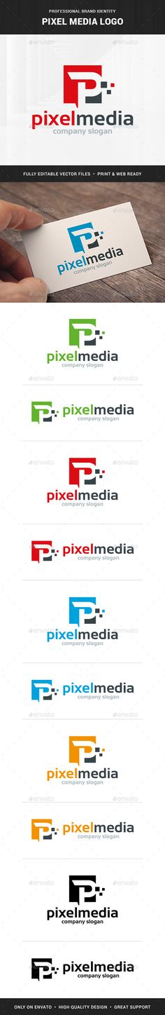 Pixel Media  Letter P Logo — Photoshop PSD #vector #talk • Available here → https://graphicriver.net/item/pixel-media-letter-p-logo/10672139?ref=pxcr