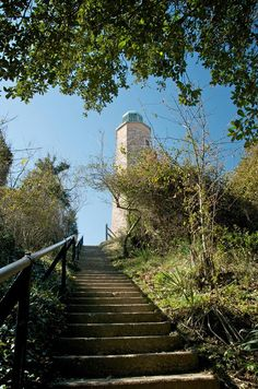 Be ready to climb some stairs at the Old Cape Henry Lighthouse tour! Cape Henry Lighthouse, Trick Or Treat, Climbing, Places To Go, Old Things, Sidewalk, Stairs, Costume Halloween, Lighthouses