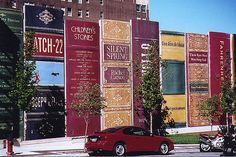 """Kansas City Central Library Parking Garage also known as the Community Bookshelf. Certainly eye-catching and nobody will ever ask """"where's the library in this city?"""""""