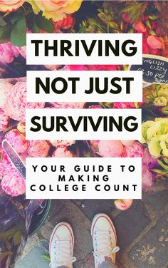 Thriving, Not Just Surviving is a free e-book for college girls. Download now!