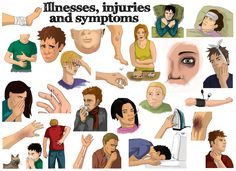 Illnesses, injuries and symptons Vocabulary