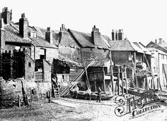A row of houses on the south bank of the Thames at Lambeth, circa Picture: GETTY Fascinating early photographs of London Victorian Street, Victorian Life, Victorian London, Vintage London, London Pictures, London Photos, Photos Du, Old Pictures, Old Photos