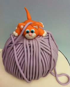 """""""That's my favorite because of the yarn and the cake on top but I like it purple yarn"""""""