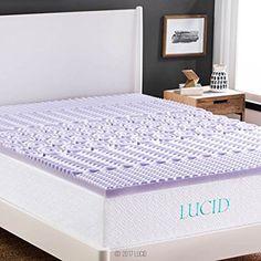 LUCID 2-In 5-Zone Lavender Memory Foam Mattress Topper, Twin XL