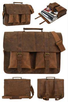 """Die Entscheidung zwischen Rucksack und Tasche muss nicht mehr getroffen werden, denn mit unserem Modell """"Edgar"""" hast Du beides in einem! Gusti Leder - 2M2-17-1"""