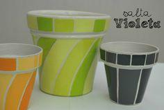 Macetas pintadas a mano/ hand painted flowerpots
