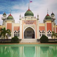 The Central Mosque, Pattani Province, Thailand. Built in 1954, it is one of the most beautiful mosque and the largest in Thailand