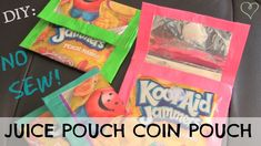DIY : Juice Pouch Wallet // Coin Pouch. NO SEW! (w/ duct tape)
