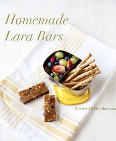 homemade lara bars 1 MOMables.com  Peanut butter chocolate chip