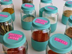 Gewürzgläschen / Spice storage in jars formerly containing baby food / Upcycling