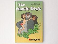 Vintage Disney Jungle  Book, Ladybird Walt Disney Film Book, Gloss Hardback, 1985, 00551