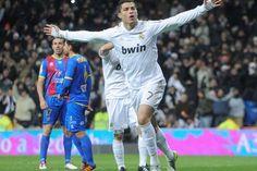 Cristiano Ronaldo celebrates scoring for Real Madrid against Levante Ronaldo Photos, Football Soccer, Cristiano Ronaldo, Sports News, Real Madrid, Premier League, Celebrities, Life, The League