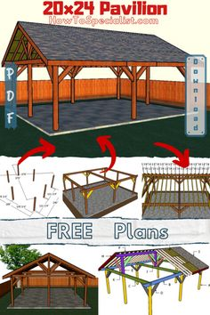This step by step woodworking project is about how to build a rectangular pavilion - free diy plans. I have designed this large backyard pavilion, so you can create a nice covered area for outdoor hanging out with family and friends.