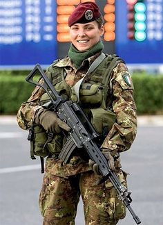 Girl with a Weapon china xxx Military girl . Women in the military . Women with guns . Girls with weapons Military Girl, Military Police, Military Personnel, Military Beret, Italian Army, Italian Women, Italian Police, Mädchen In Uniform, Female Soldier