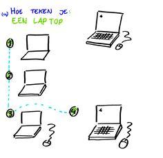 Hoe teken je... een laptop? http://debetekenaar.nl/cursus/
