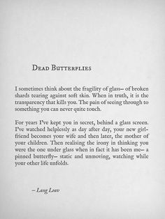 Dead Butterflies