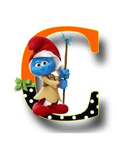 S.T.R.U.M.F.: Litere cu strumfi 2 Alphabet, Woody Woodpecker, Masha And The Bear, Bob The Builder, Tom And Jerry, Abcs, Hand Lettering, Cartoons, Doodles