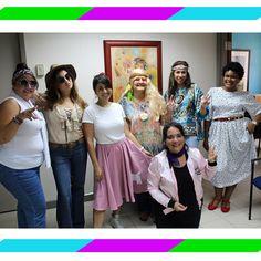 Happy decade costume day 60's, 70's y 80's.