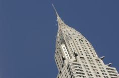 The Art Deco Chrysler Building in New York City has jazzy automobile ornaments