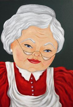 Mrs. Clause Painting by Ruth Bares - Mrs. Clause Fine Art Prints and Posters for Sale