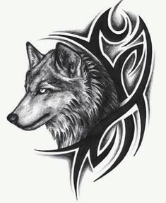 Feather Tattoo Designs: Wolf Tattoos