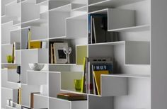 Unique Angular Bookshelf Design