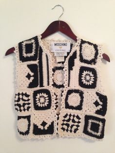 Vintage Moschino Black and White Patchwork Knit by ShopKingDude, $59.00