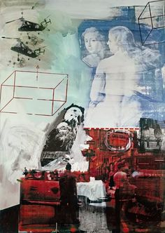 Robert Rauschenberg - Tracer, Oil and silkscreen ink on canvas - owned by the Nelson-Atkins Museum of Art, Kansas City, MO Robert Rauschenberg, Art Du Collage, Collage Artists, Collages, Neo Dada, Jasper Johns, Action Painting, Tachisme, Abstract Expressionism