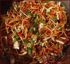 Chinese Bhel - Spicy Tangy Fried Noodles