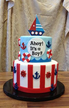 Ahoy! It's a boy!! Baby shower cake | by jennywenny
