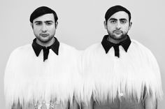 Max and Louis - Twins Custom made Charlie Le Mindu Comme des Garcons worn under Joseph, Twins, Brother, Stylists, Mood, Art, Art Background, Kunst, Performing Arts