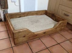 Dog Bed made from reclaimed scaffold boards- ecorustic furniture