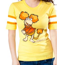 35bf22164e64f This jersey-style Fraggle Rock shirt features sports-loving Red Fraggle.