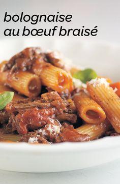Servez la sauce bolognaise sur les pâtes de votre choix. #recette #chefLouisFrancoisMarcotte
