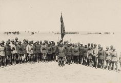 21-OTTOMAN OFFICERS OF THE REGIMENT THAT DEFENDED GAZA AT THE FIRST ATTACK, 1917