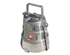 3 Tier - Authentic Indian-Tiffin Lunch Box Stainless Steel PYRAMID - FREE P on eBay!