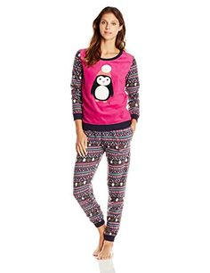 Layla Women s Layla Microfleece Pajama Set ad3b72f2a29