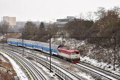 749 107 Zimní přechod Brd - Os 2058_Praha Kačerov_26.1.2019 Railroad Tracks, Train, Strollers, Train Tracks