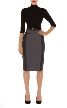 Grey fashion suit skirt