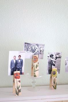 DIY Photo Holders with Botanical Image Transfer