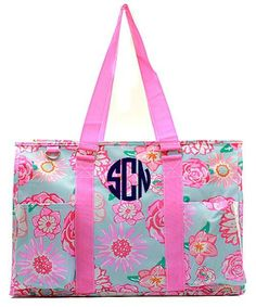 Paisley Print Large Size Utility Tote Bag Hot Pink Trim
