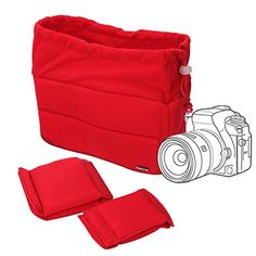 DSLR Photography Tips for Beginners - Photography Camera Nikon, Camera Case, Dslr Camera Reviews, Camera Bag Insert, Dslr Photography Tips, Thing 1, Photo Bag, Photography Accessories, Orange Bag